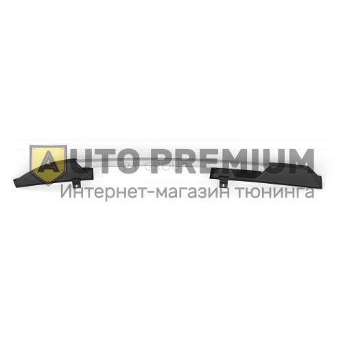Рейлинги «Усиленные» (Серебристый муар) / LADA Kalina Хэтчбек 2004-2013 / Kalina II c 2013